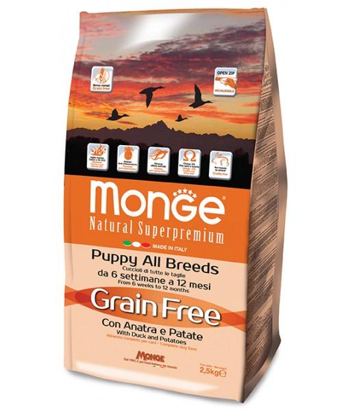 Grain Free Puppy/Junior con Anatra e Patate