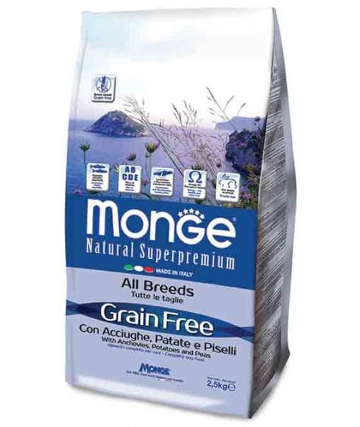 Grain Free All Breeds Acciughe, Patate e Piselli